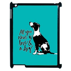Dog person Apple iPad 2 Case (Black)