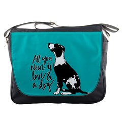 Dog person Messenger Bags
