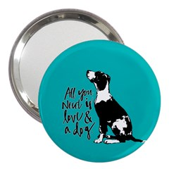 Dog person 3  Handbag Mirrors