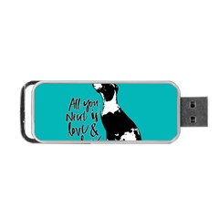 Dog person Portable USB Flash (One Side)