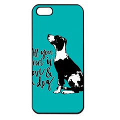 Dog person Apple iPhone 5 Seamless Case (Black)