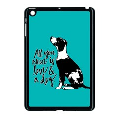 Dog person Apple iPad Mini Case (Black)