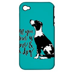 Dog person Apple iPhone 4/4S Hardshell Case (PC+Silicone)