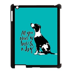 Dog person Apple iPad 3/4 Case (Black)