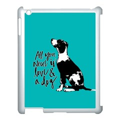 Dog person Apple iPad 3/4 Case (White)