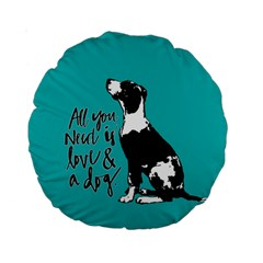 Dog person Standard 15  Premium Round Cushions