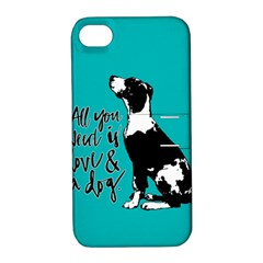 Dog person Apple iPhone 4/4S Hardshell Case with Stand