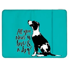 Dog person Samsung Galaxy Tab 7  P1000 Flip Case