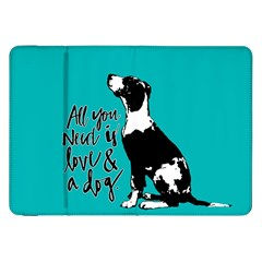 Dog person Samsung Galaxy Tab 8.9  P7300 Flip Case