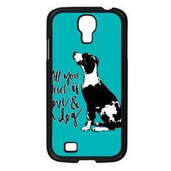 Dog person Samsung Galaxy S4 I9500/ I9505 Case (Black)
