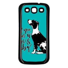 Dog person Samsung Galaxy S3 Back Case (Black)
