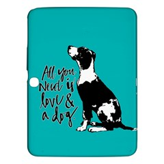 Dog person Samsung Galaxy Tab 3 (10.1 ) P5200 Hardshell Case