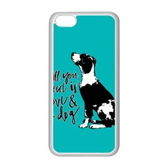 Dog person Apple iPhone 5C Seamless Case (White)