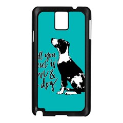 Dog person Samsung Galaxy Note 3 N9005 Case (Black)