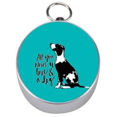 Dog person Silver Compasses