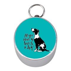 Dog person Mini Silver Compasses