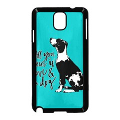 Dog person Samsung Galaxy Note 3 Neo Hardshell Case (Black)