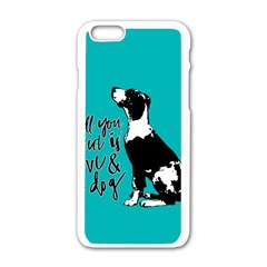 Dog person Apple iPhone 6/6S White Enamel Case