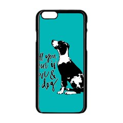 Dog person Apple iPhone 6/6S Black Enamel Case