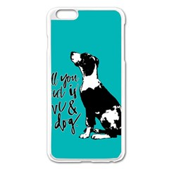 Dog person Apple iPhone 6 Plus/6S Plus Enamel White Case
