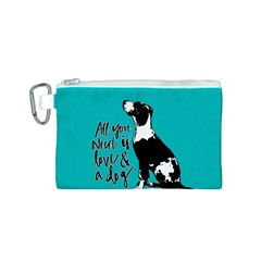 Dog person Canvas Cosmetic Bag (S)
