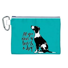 Dog person Canvas Cosmetic Bag (L)