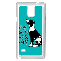 Dog person Samsung Galaxy Note 4 Case (White)
