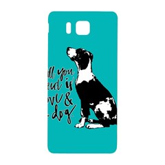 Dog person Samsung Galaxy Alpha Hardshell Back Case