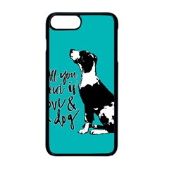 Dog person Apple iPhone 7 Plus Seamless Case (Black)