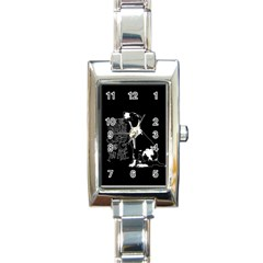 Dog person Rectangle Italian Charm Watch