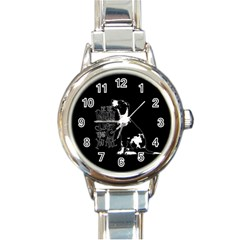 Dog person Round Italian Charm Watch