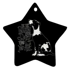 Dog person Ornament (Star)