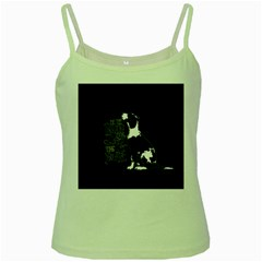 Dog person Green Spaghetti Tank