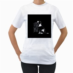 Dog person Women s T-Shirt (White) (Two Sided)