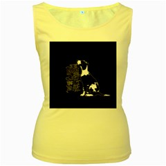Dog person Women s Yellow Tank Top