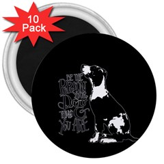 Dog person 3  Magnets (10 pack)