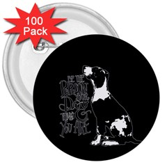 Dog person 3  Buttons (100 pack)