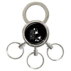 Dog person 3-Ring Key Chains