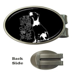 Dog person Money Clips (Oval)