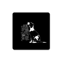 Dog person Square Magnet