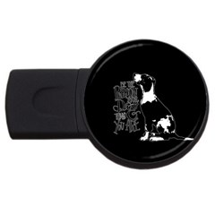 Dog person USB Flash Drive Round (1 GB)
