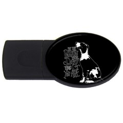 Dog person USB Flash Drive Oval (1 GB)