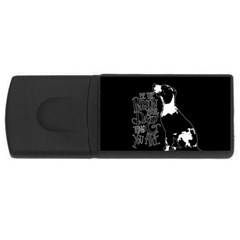 Dog person USB Flash Drive Rectangular (2 GB)