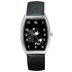 Dog person Barrel Style Metal Watch