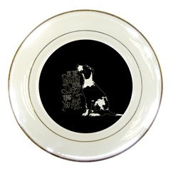 Dog person Porcelain Plates