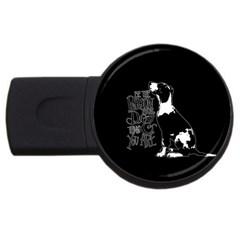 Dog person USB Flash Drive Round (4 GB)