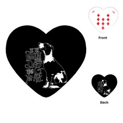 Dog person Playing Cards (Heart)
