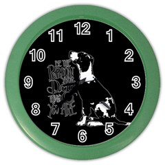 Dog person Color Wall Clocks