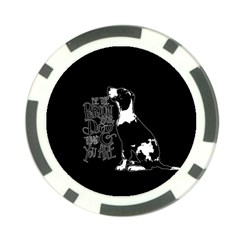 Dog person Poker Chip Card Guard