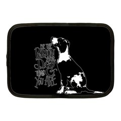 Dog person Netbook Case (Medium)